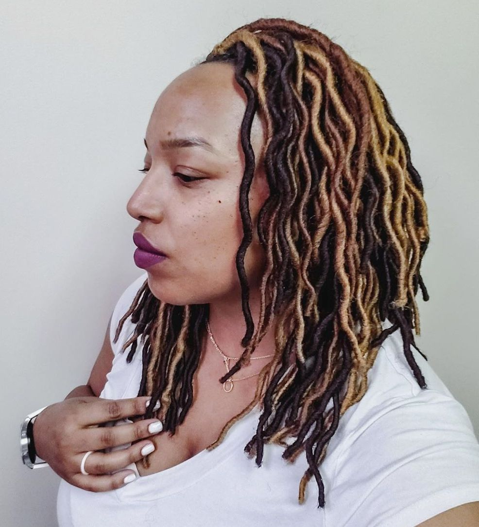 Faux Locs with Layers