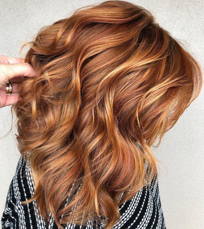 Light Auburn Hair with Blonde Highlights