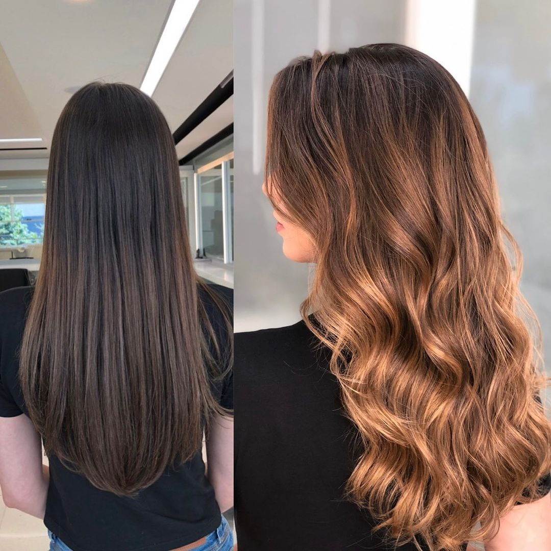 Brown Hair with Hand-Painted Balayage