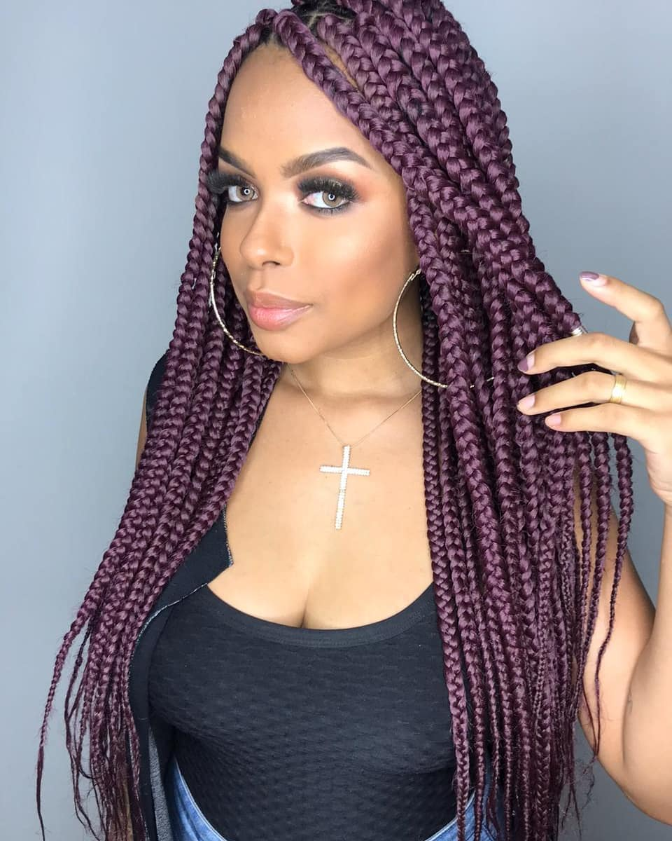 Purple Classic Individual Braids