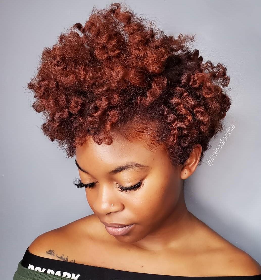 Short Natural Auburn Hair
