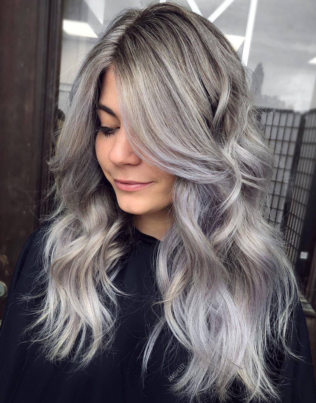 Gray Blonde Balayage Hair