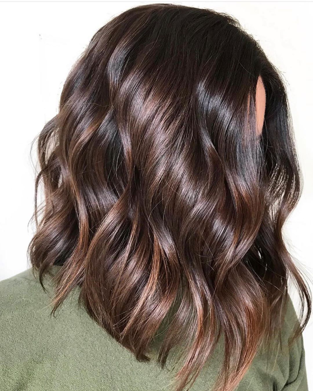 Chocolate Hair with Caramel Babylights