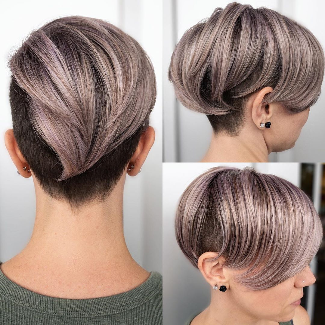 Undercut with Sweeping Bangs