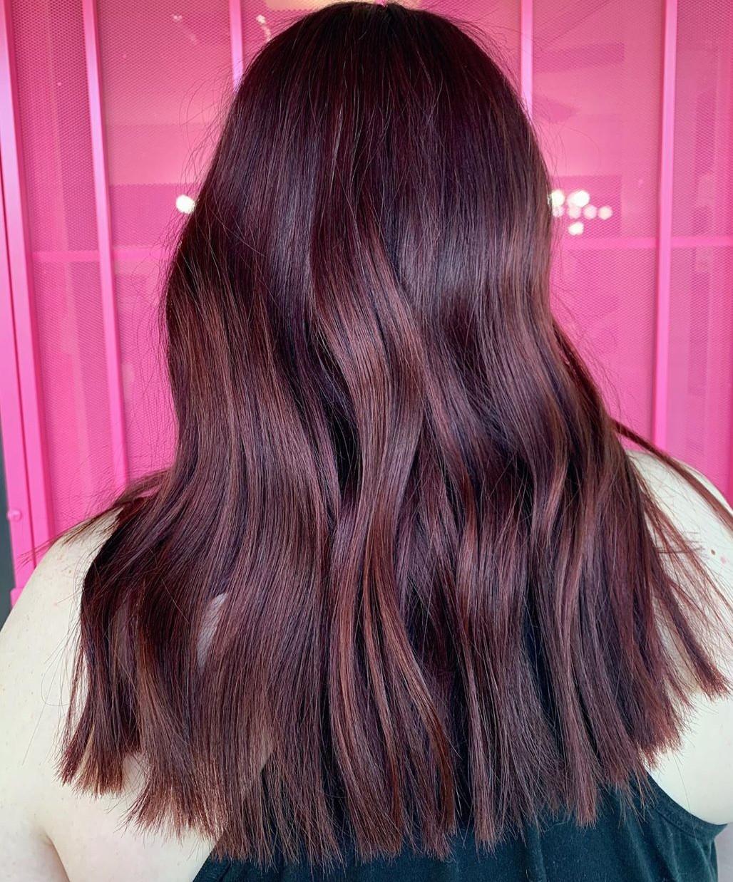 Deep Purple Auburn Hair