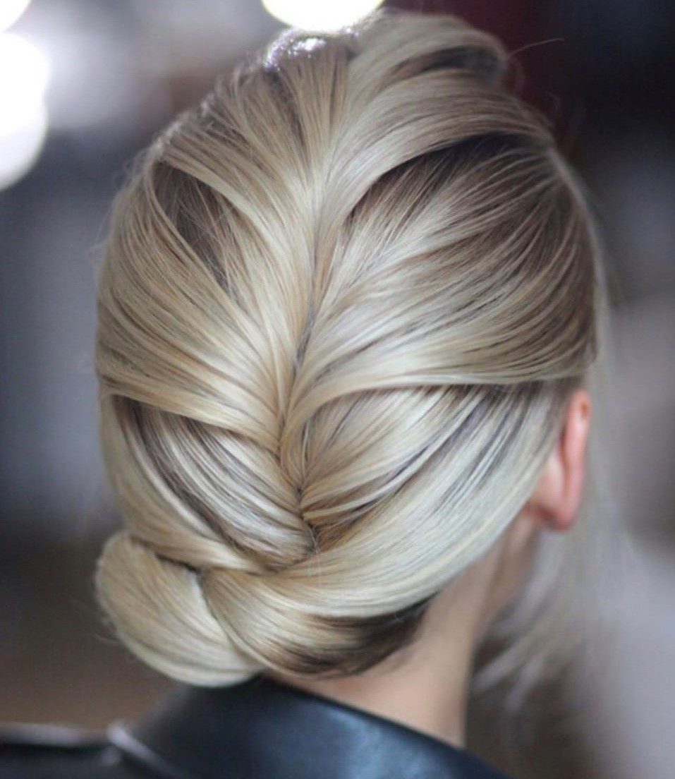 Classy Updo Hairstyle with a French Braid