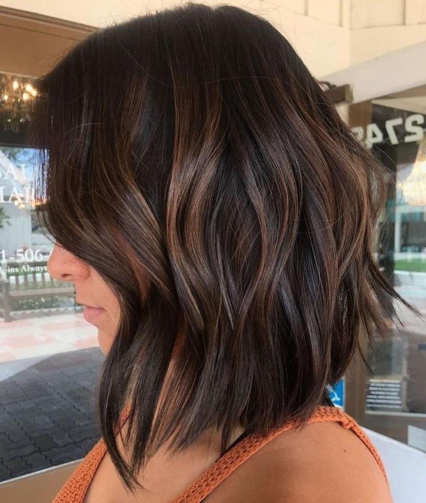 Dark Hair with Peek-a-Boo Highlights