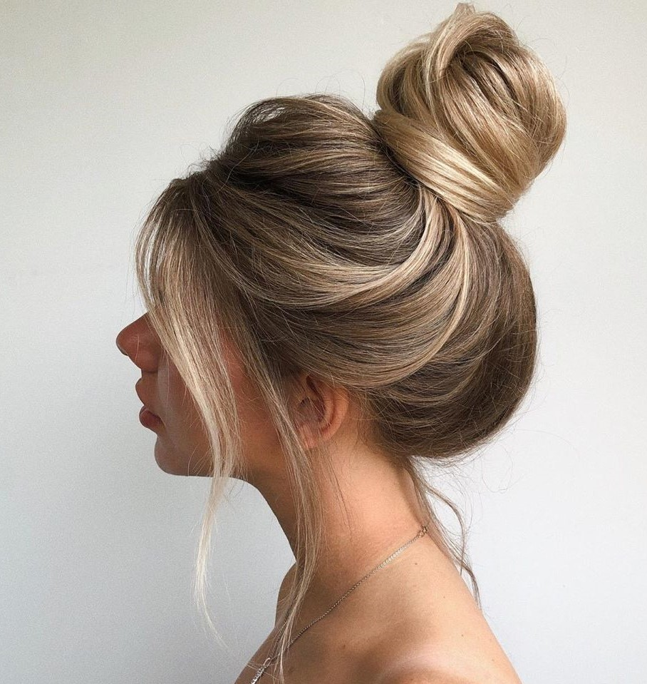 Bun Updo for Long Thick Hair