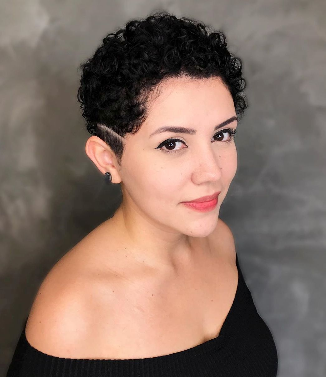 Short Curly Undercut for Black Hair