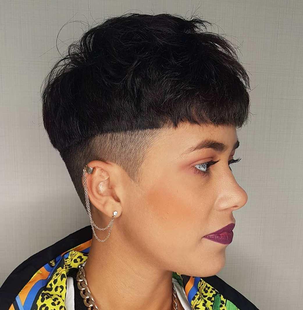 Undercut Short Hair with Bangs
