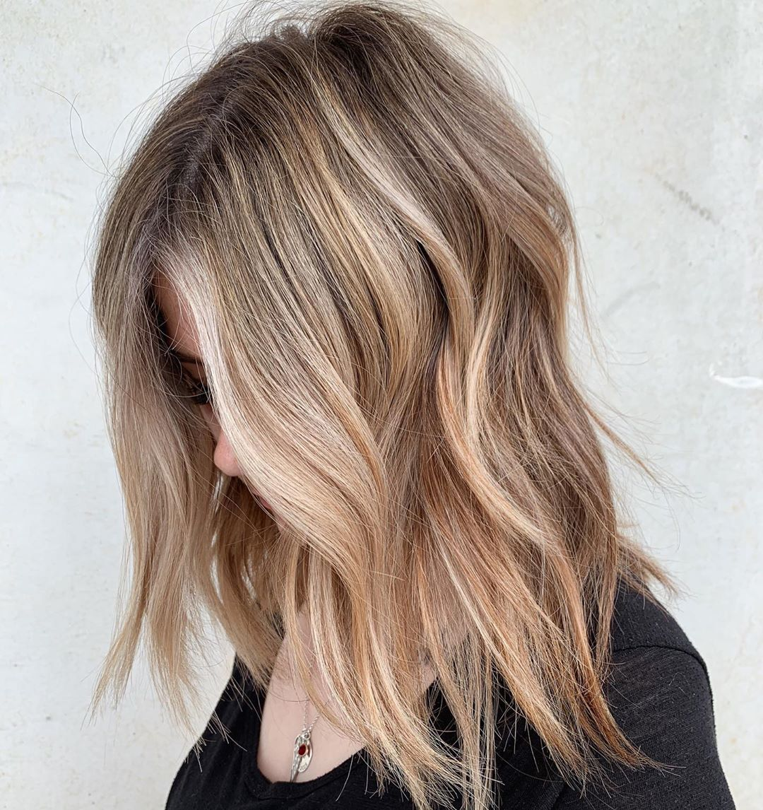 Bronde Hair with Blonde and Caramel Highlights