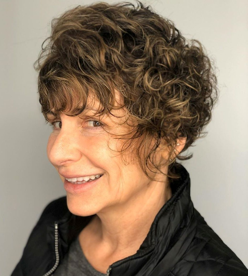 Over 50 Hairstyle for Short Curly Hair