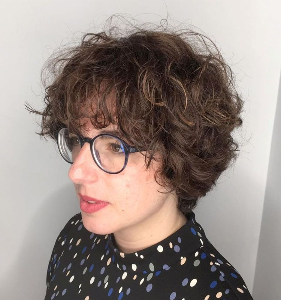 Short Curly Hair with Glasses