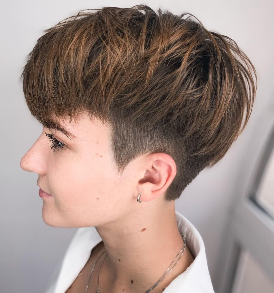 Undercut Pixie with Subtle Highlights