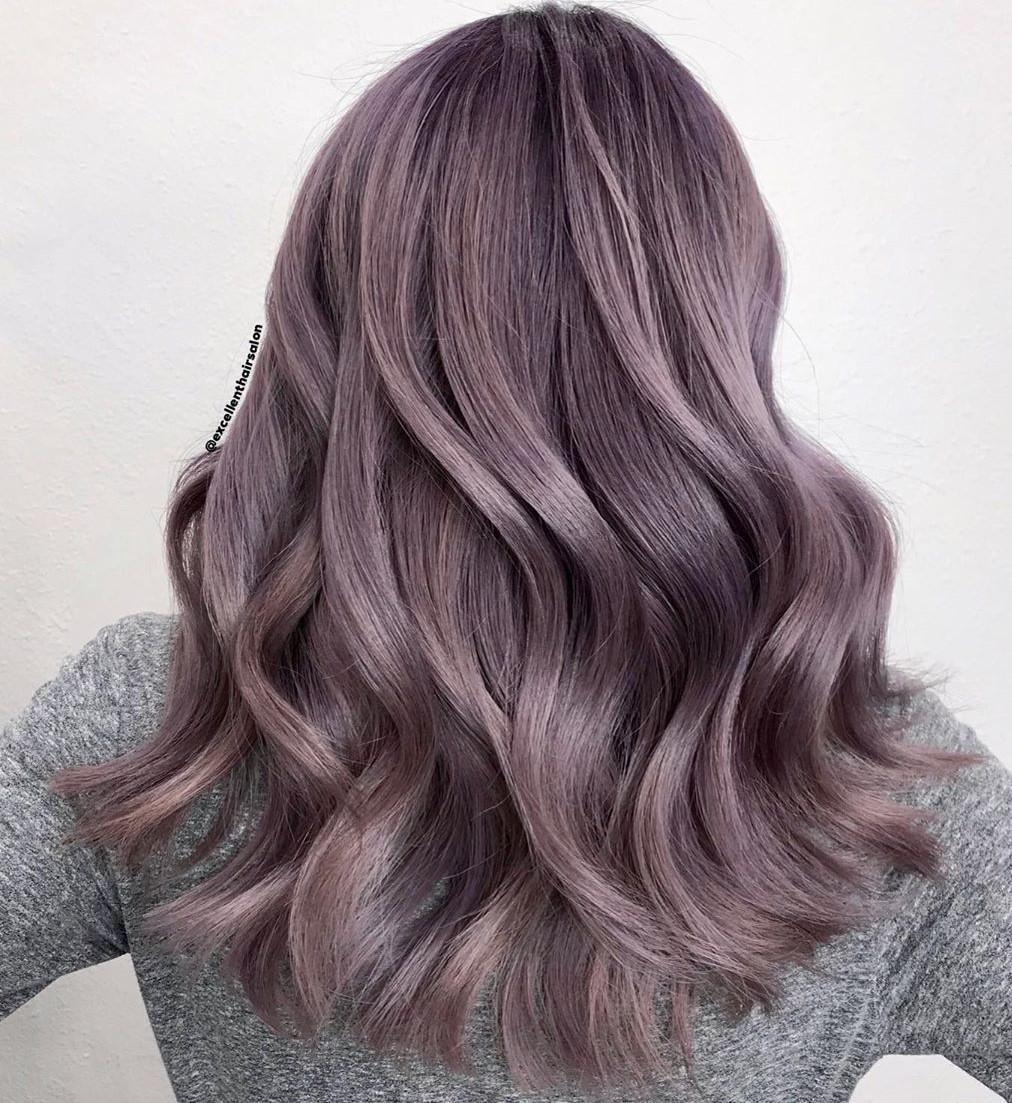 Tinted Silver Lavender Hair Balayage