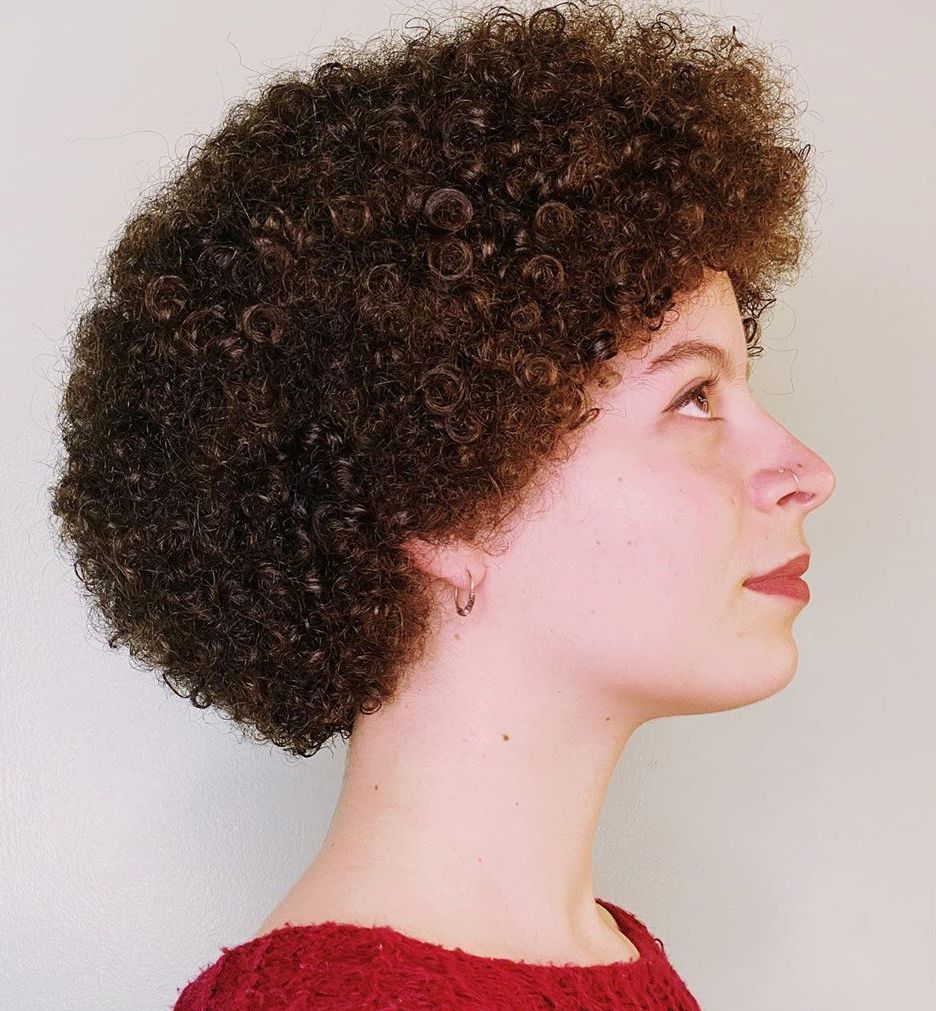Sweet Short Perm Hairstyle