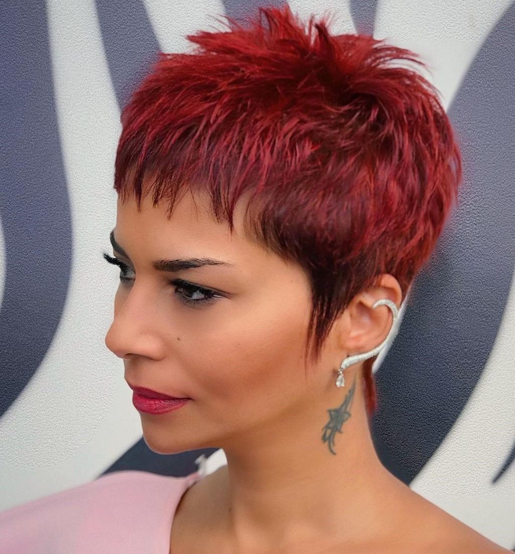 Short Bright Pixie with Bangs