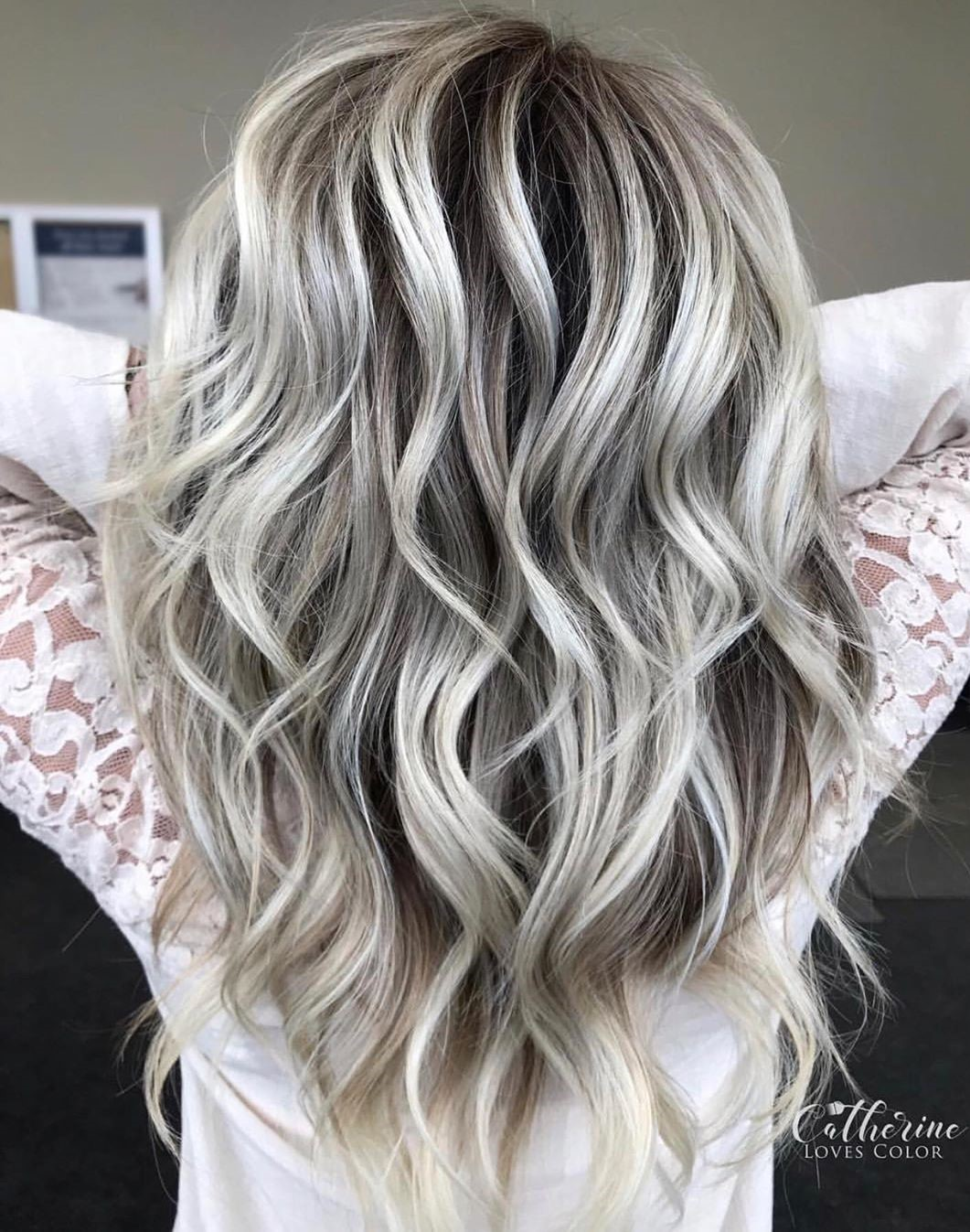 Silver Hair with Very Dark Roots