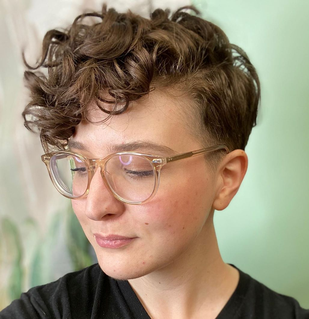 Curly Tapered Short Cut for Thick Hair