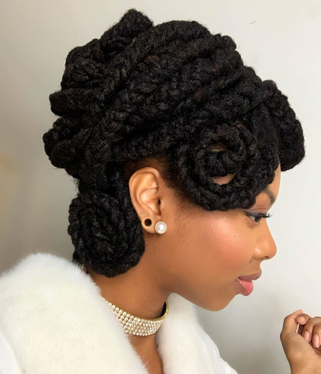 Twisted and Braided Updo for Dreads