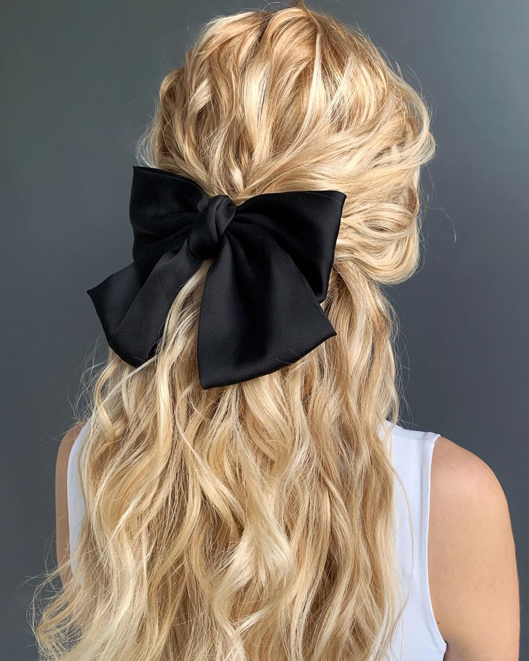 Half-Up with a Bow for Long Hair