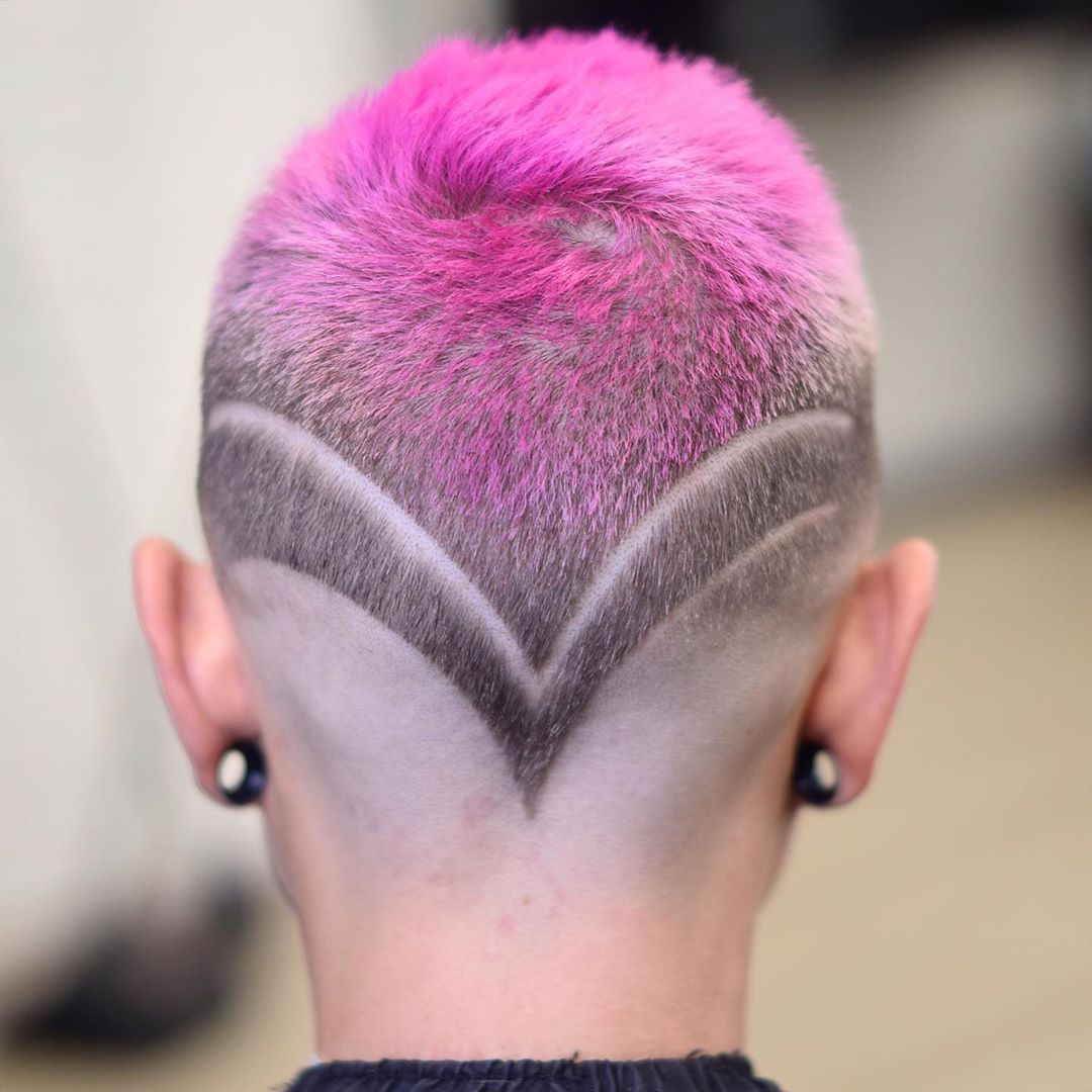Very Short Haircut with Shaved Design