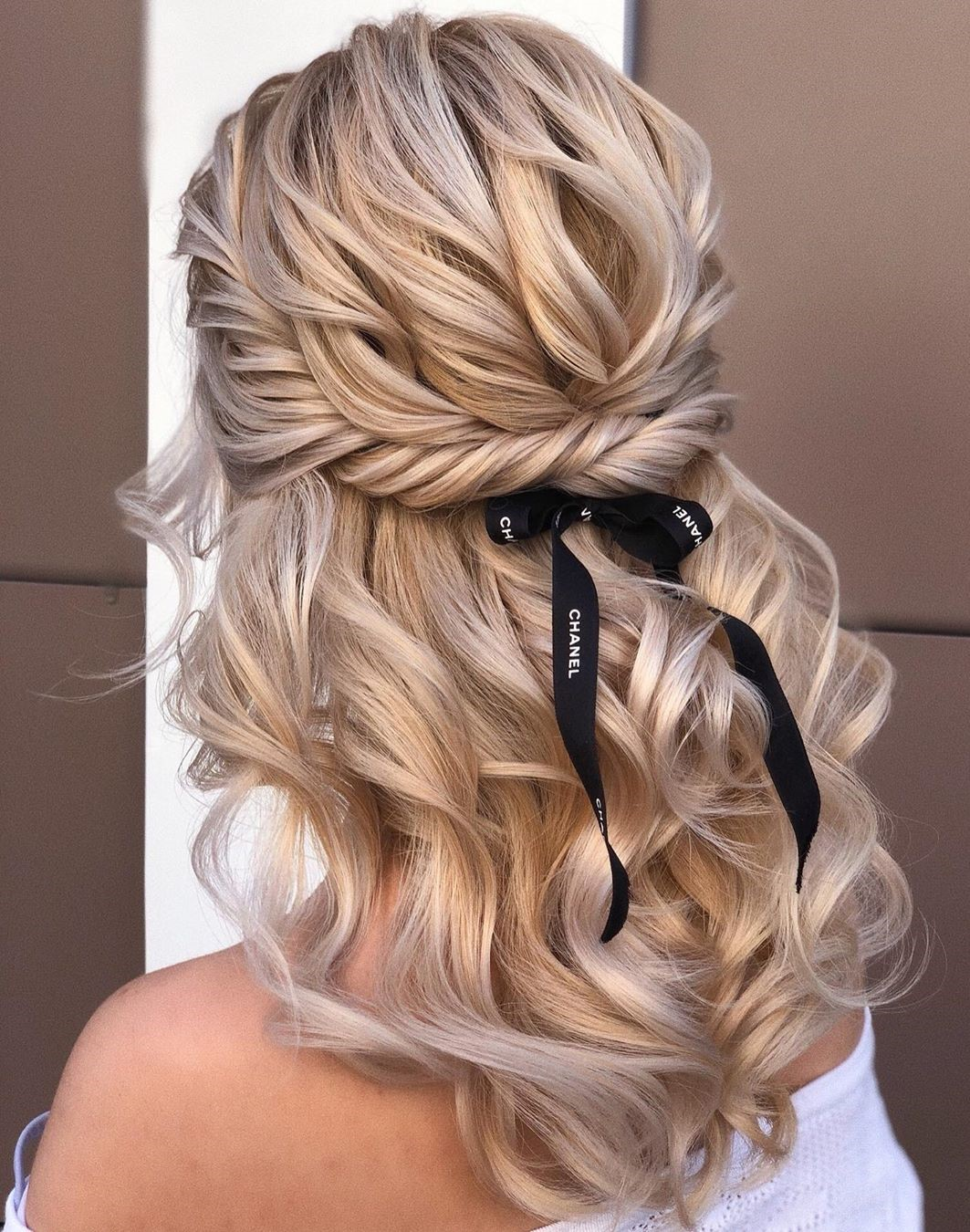 Half-Up Half-Down Curly Hair Style