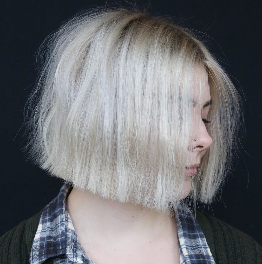 Short Soft Platinum Blonde Hair