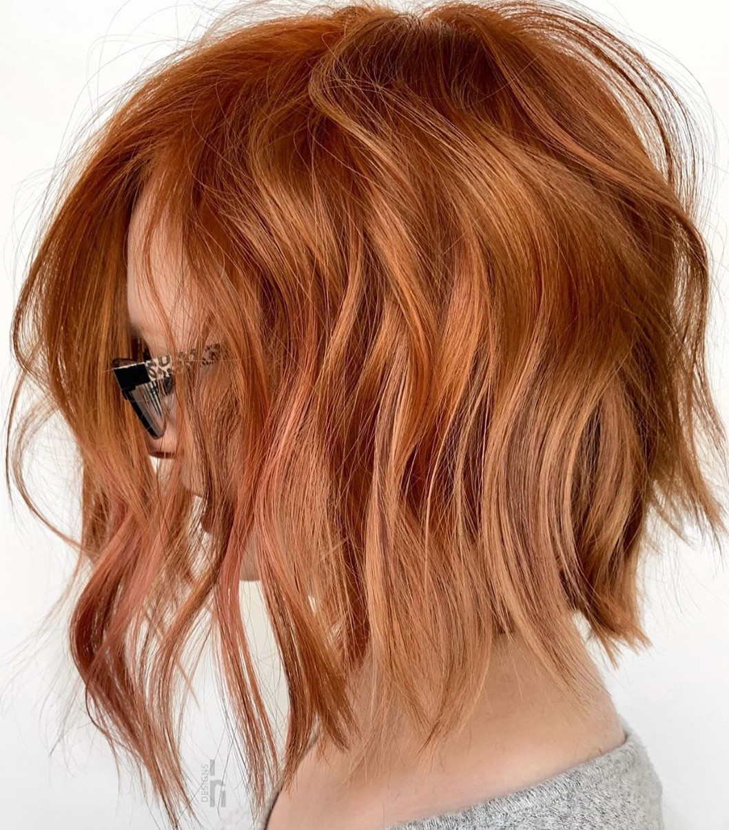 Copper Hair with Strawberry Blonde Highlights