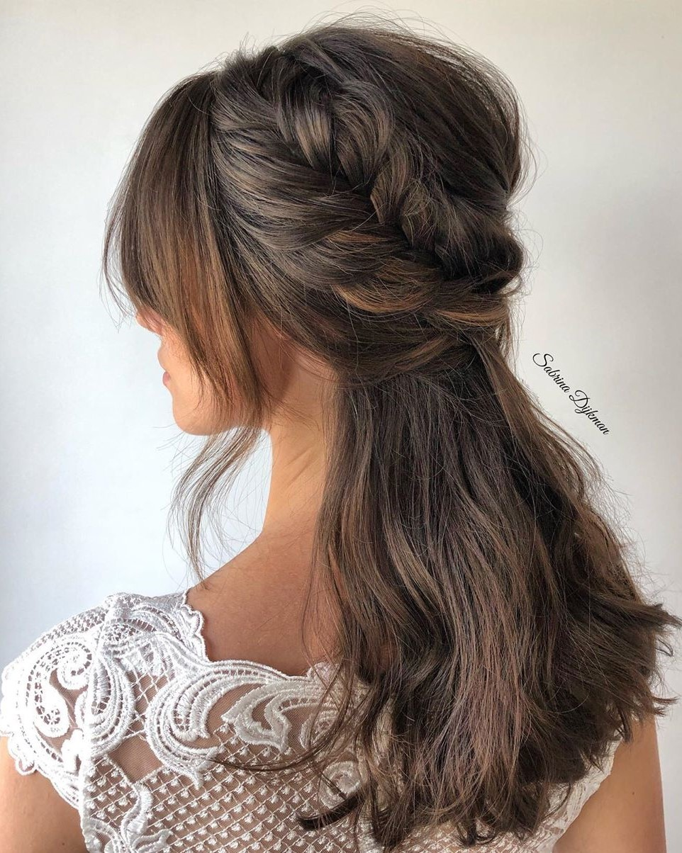 Sweet French Braid Half Updo
