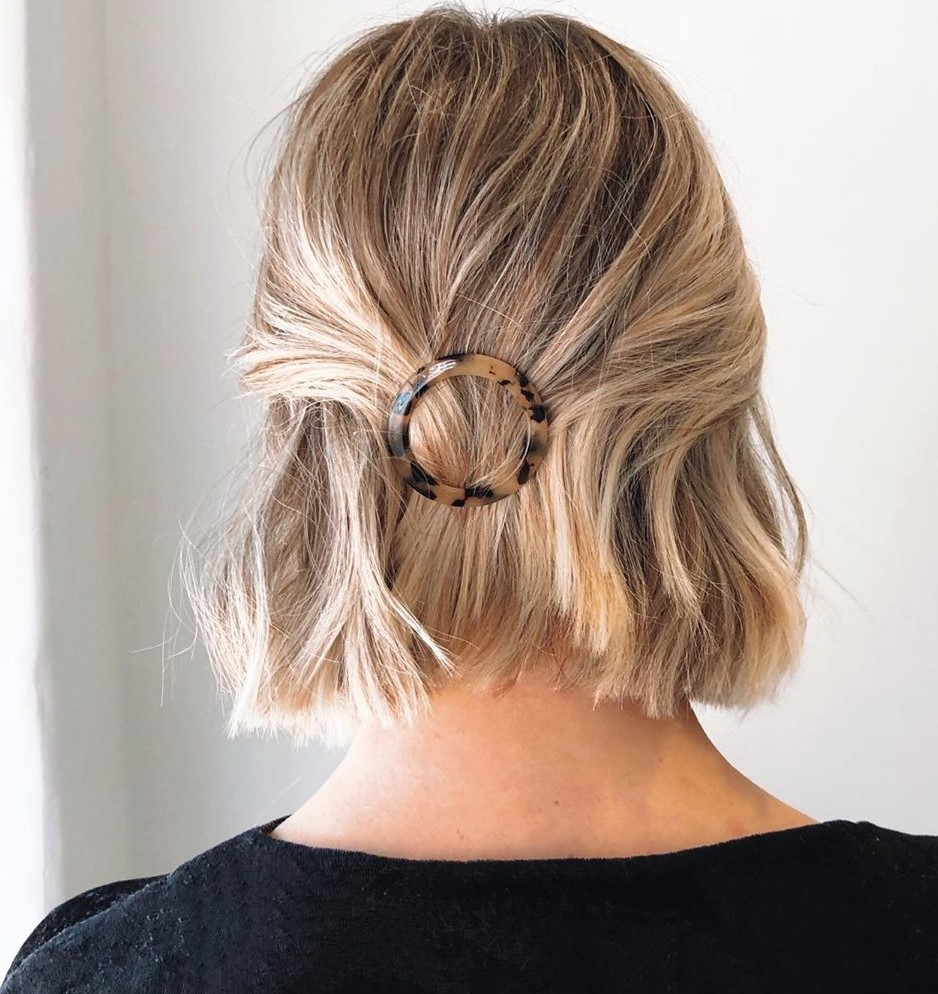 Half-Up Short Bob Hairstyle