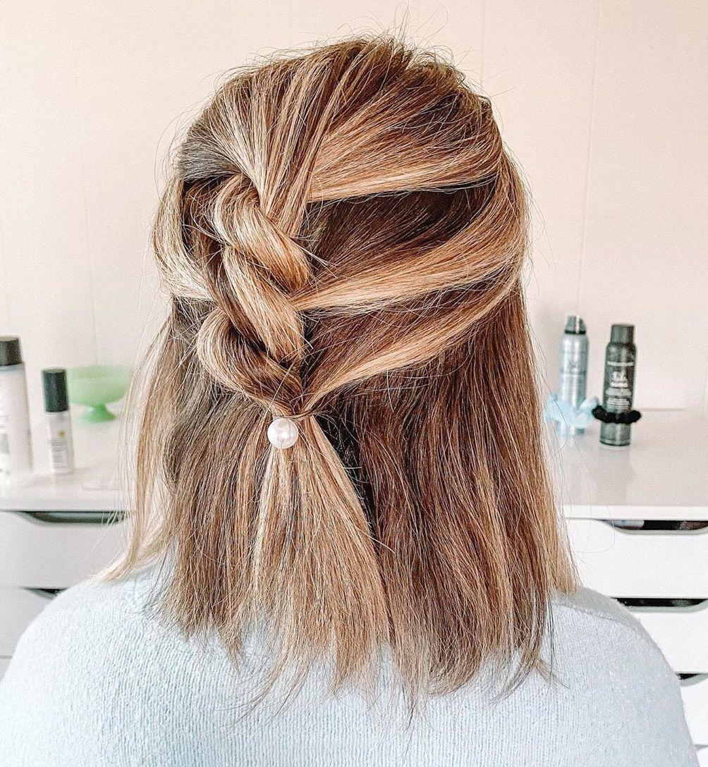Twist Braid Half Updo