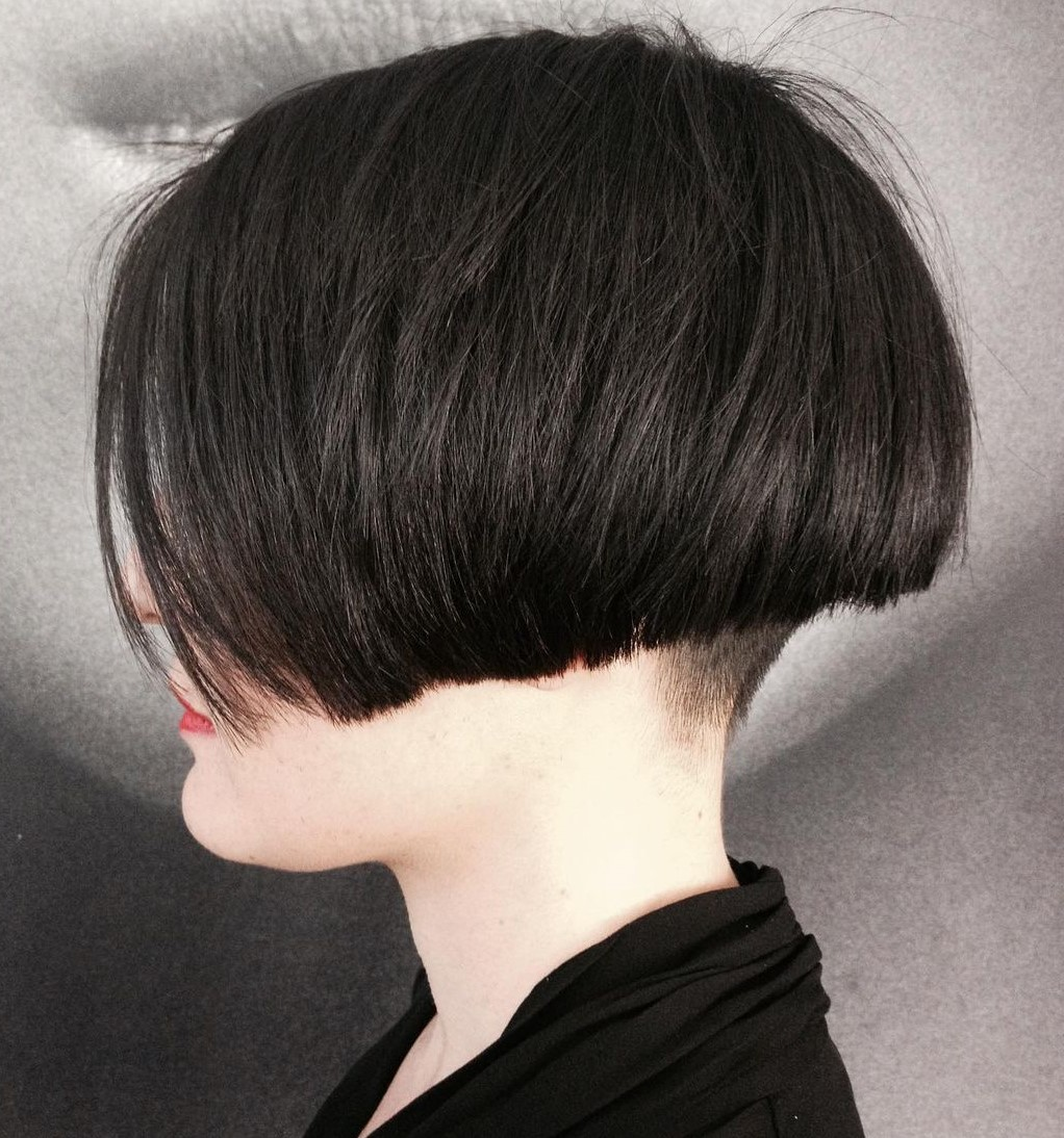 Short Undercut Bob for Thick Hair