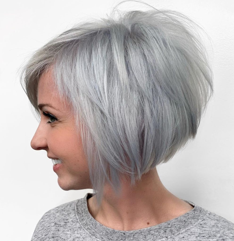 Short Icy Platinum Hair