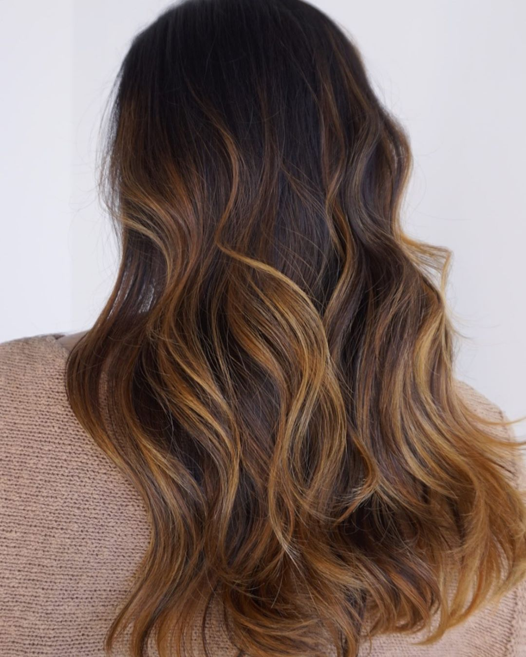Caramel Balayage for Black Hair