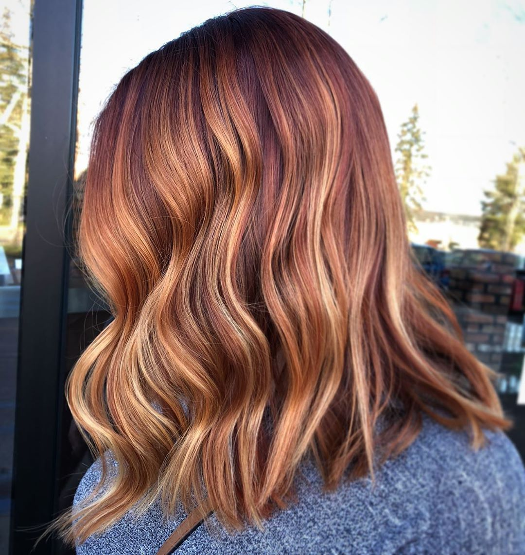 Strawberry Blonde Hair Color Idea for Brunettes