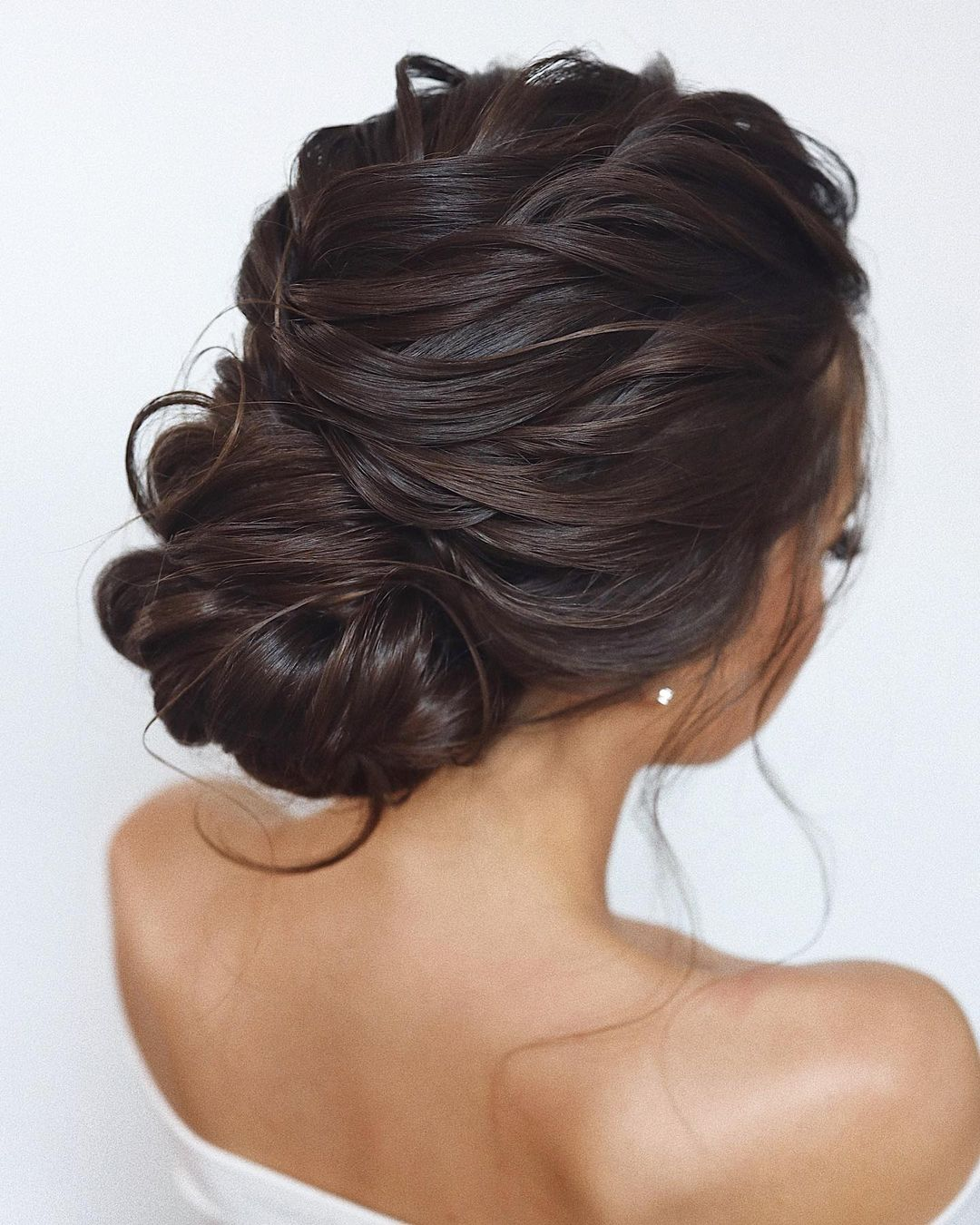 French Twist Updo for Long Wavy Hair