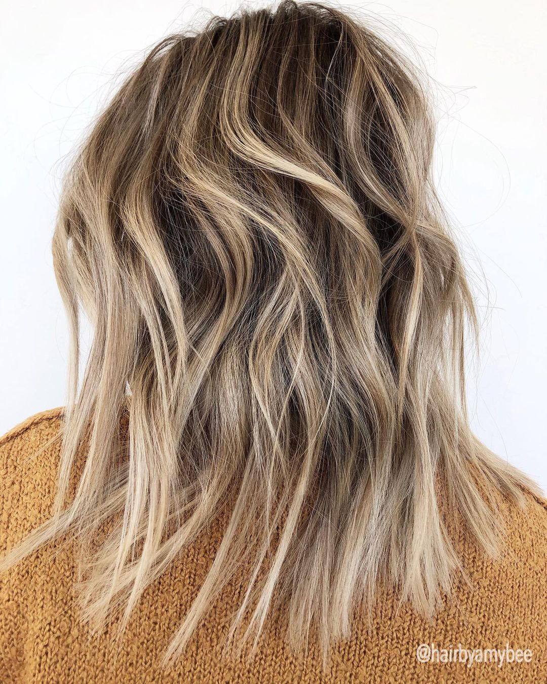 Messy Dirty Blonde Hair with Ash Highlights