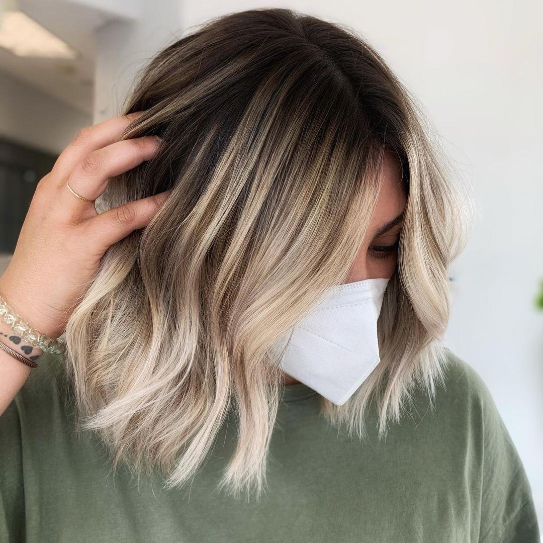 Blonde Balayage for Short Hair