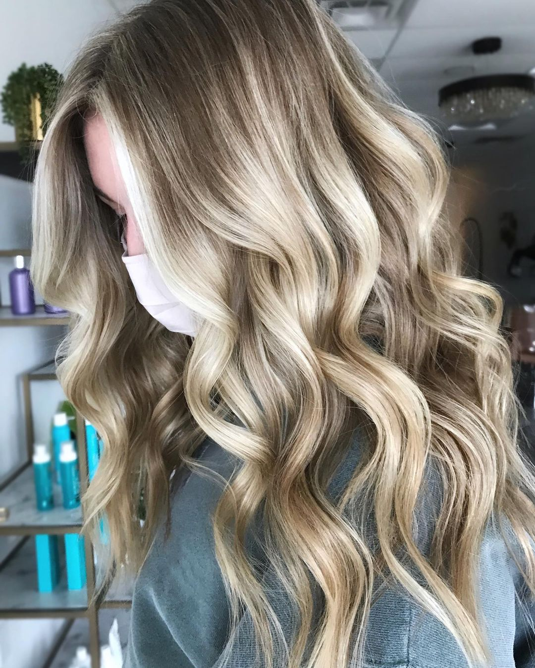 Dirty Blonde Hair with Chunky Bright Highlights