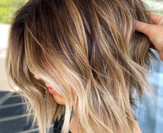 Highlighted Golden Dirty Blonde Hair
