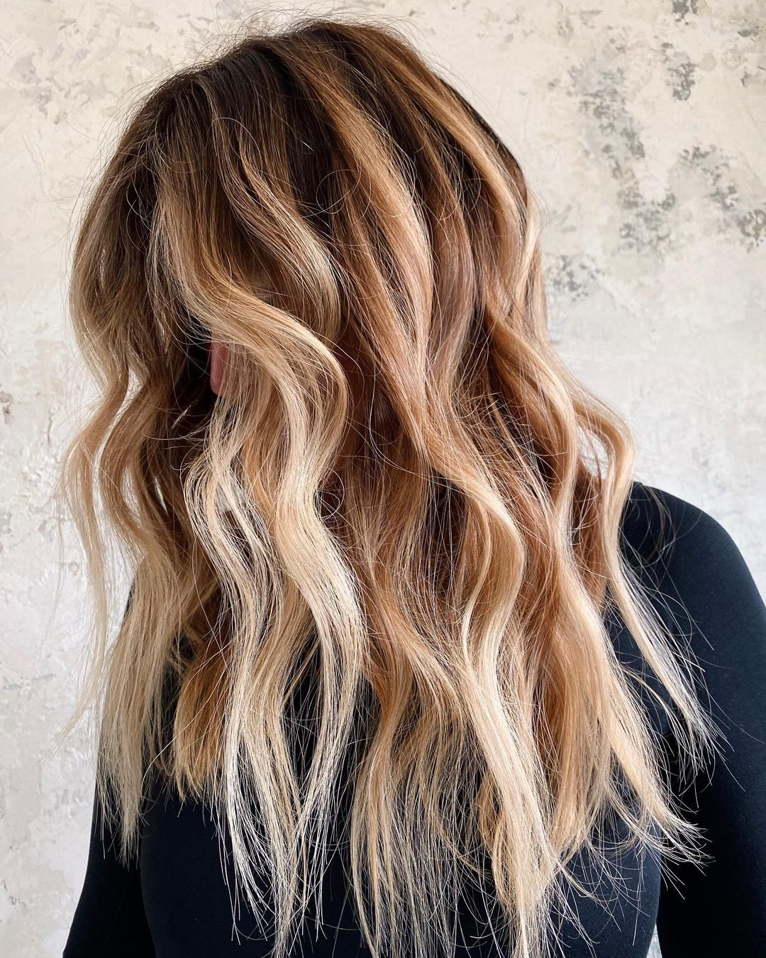 Chocolate Hair Colors with Blonde Highlights