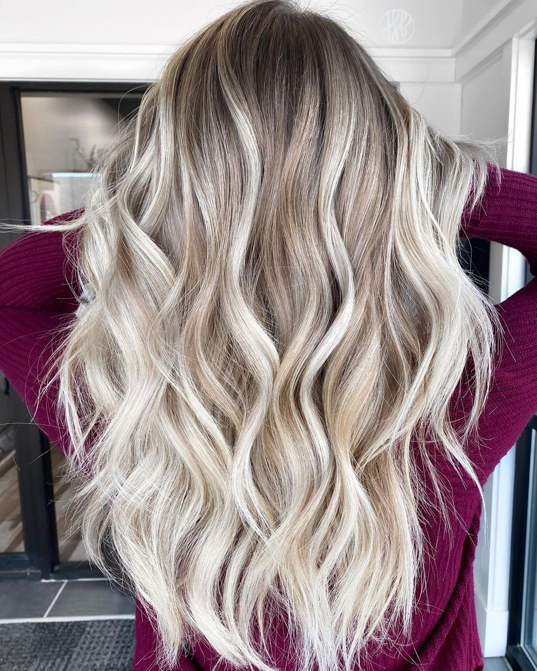 Sparkly Bright Blonde Balayage Hair