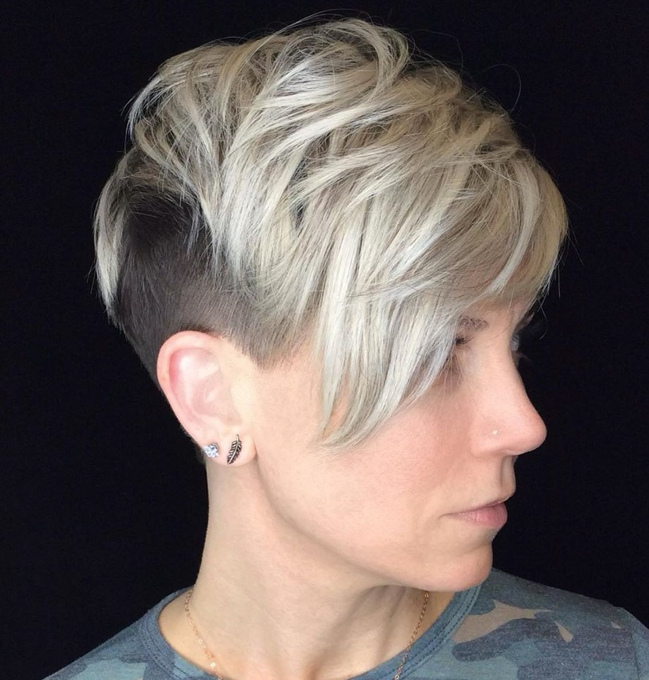 Long Blonde Pixie Undercut