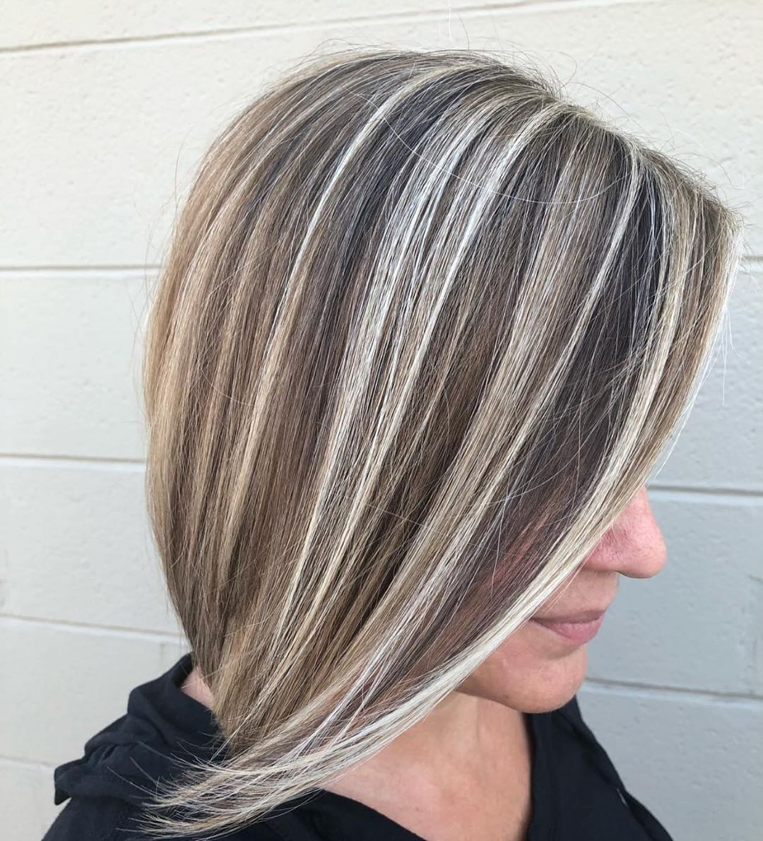 Ashy Highlights to Cover Gray