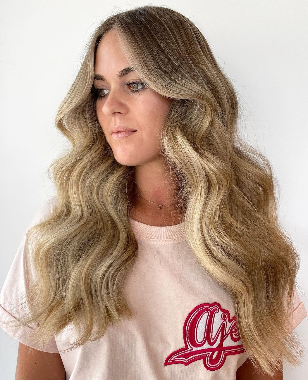 Long Honey Blonde Hair with Highlights