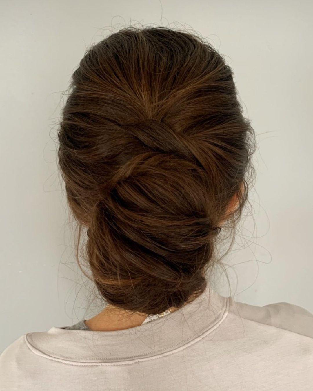 Elegant Low Chignon Hairstyle