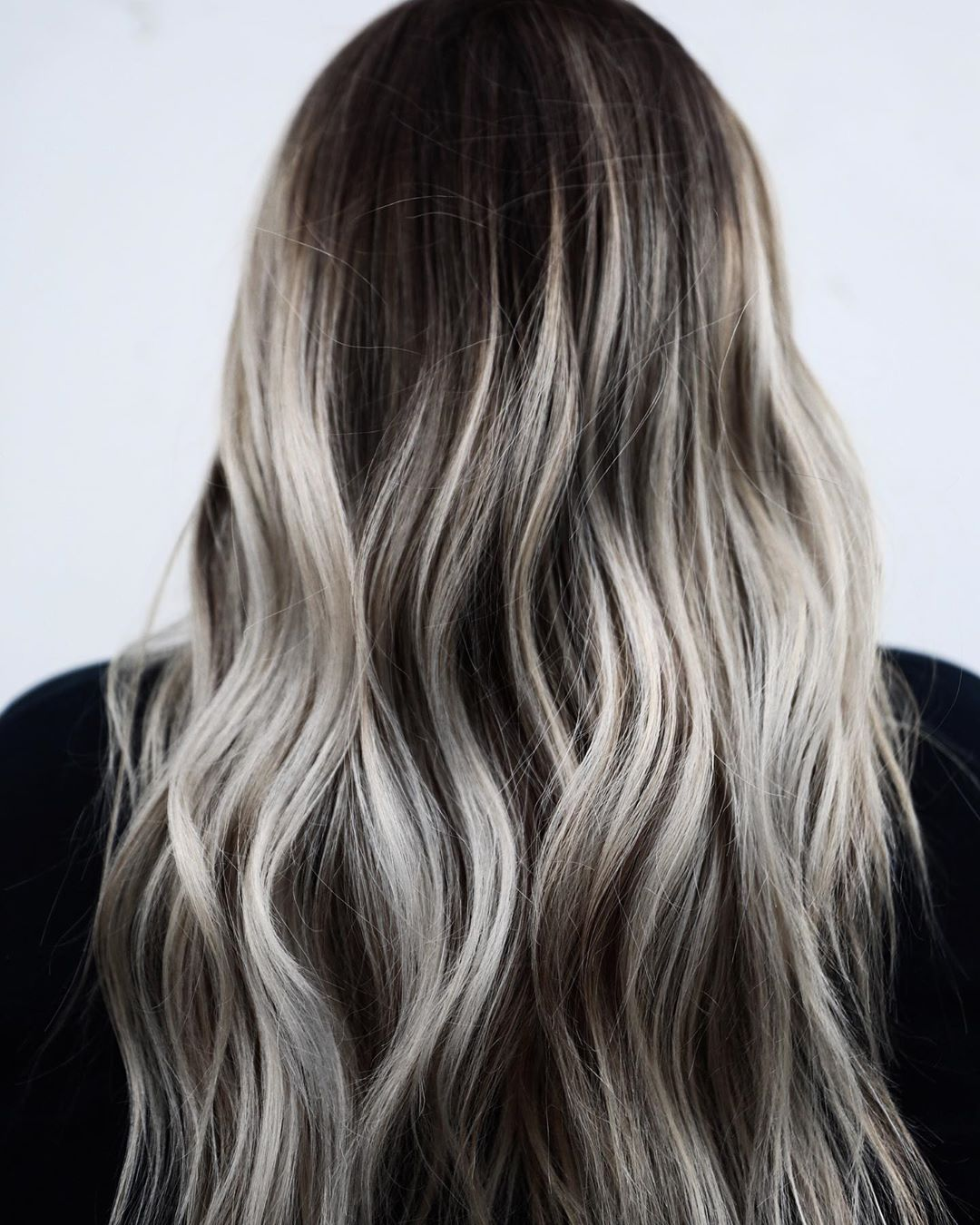 Gray and Blonde Highlights