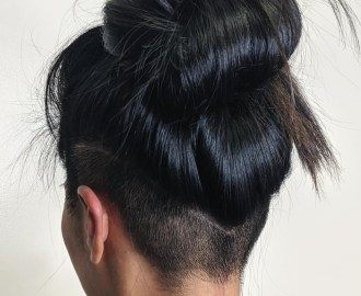Top Knot Updo with Undercut