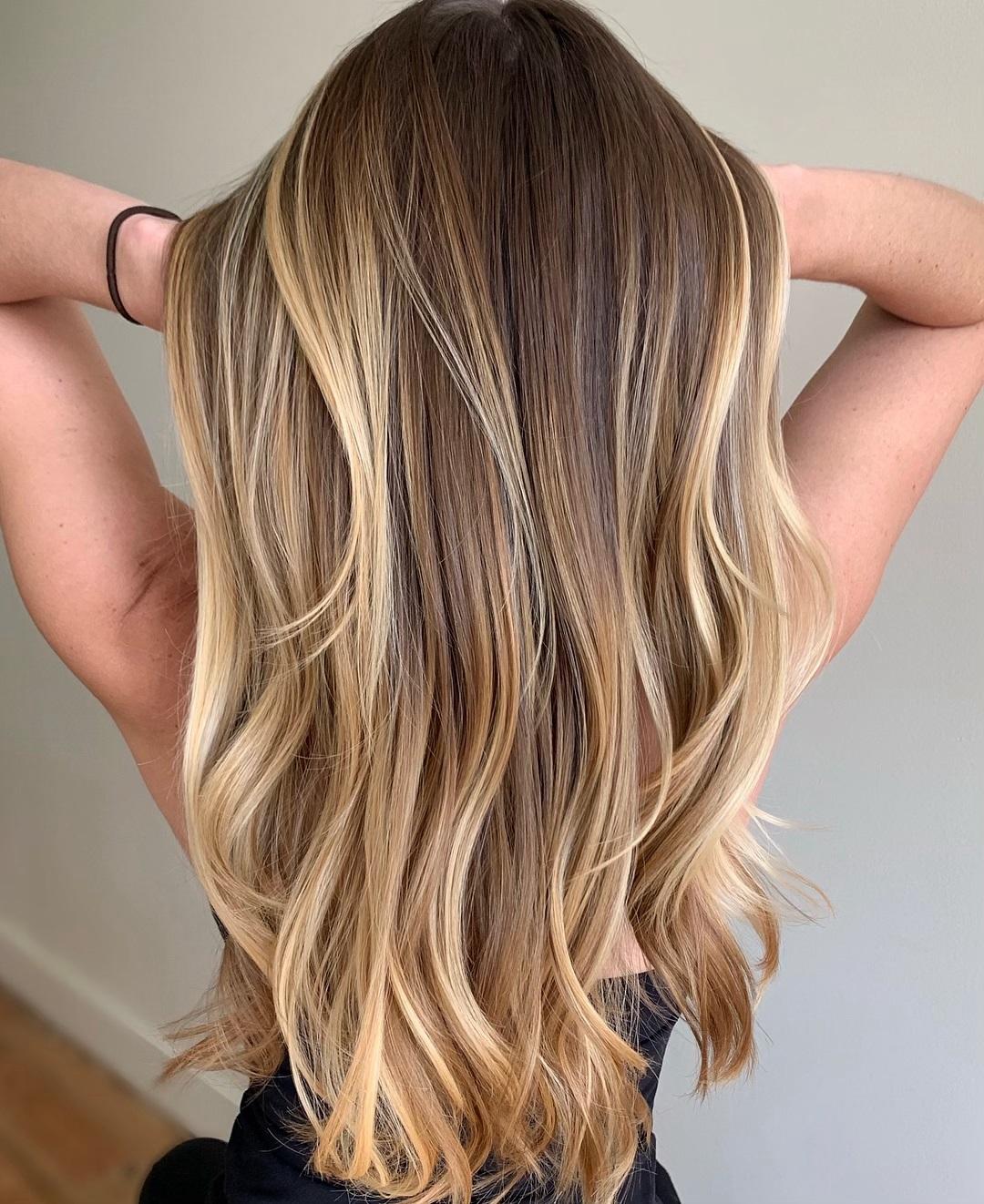 Layered Blonde Balayage Hair